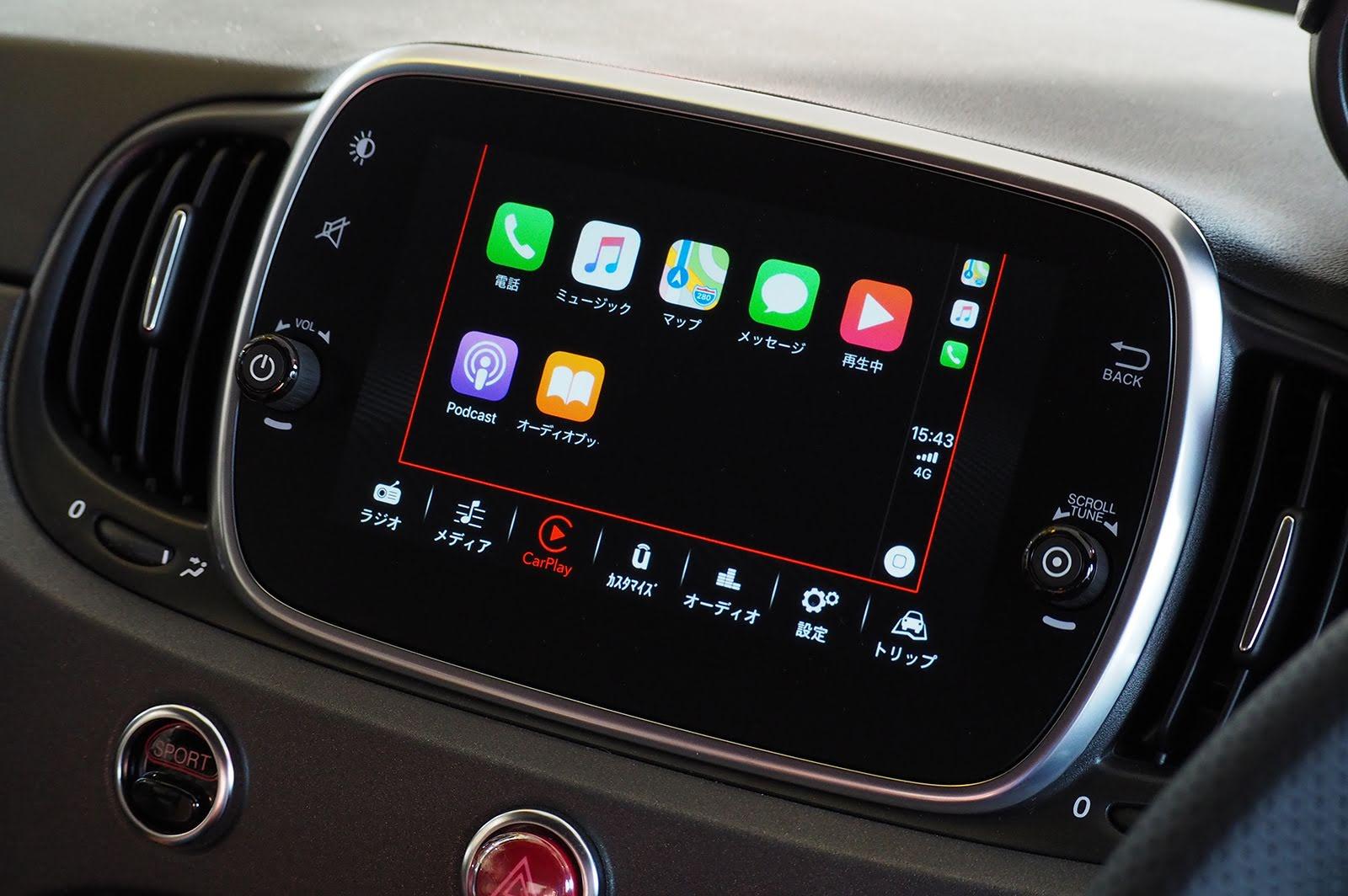 Apple CarPlayとAndroid Autoに対応したアバルト595のインフォテインメントシステム「Uconnect®」を試してみた
