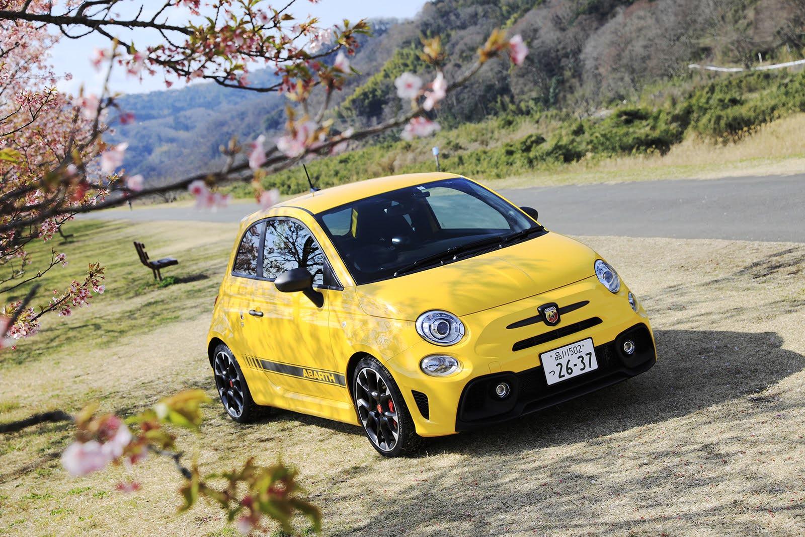 桜が見られる伊豆のドライブコースへ アバルトで気分は満開!