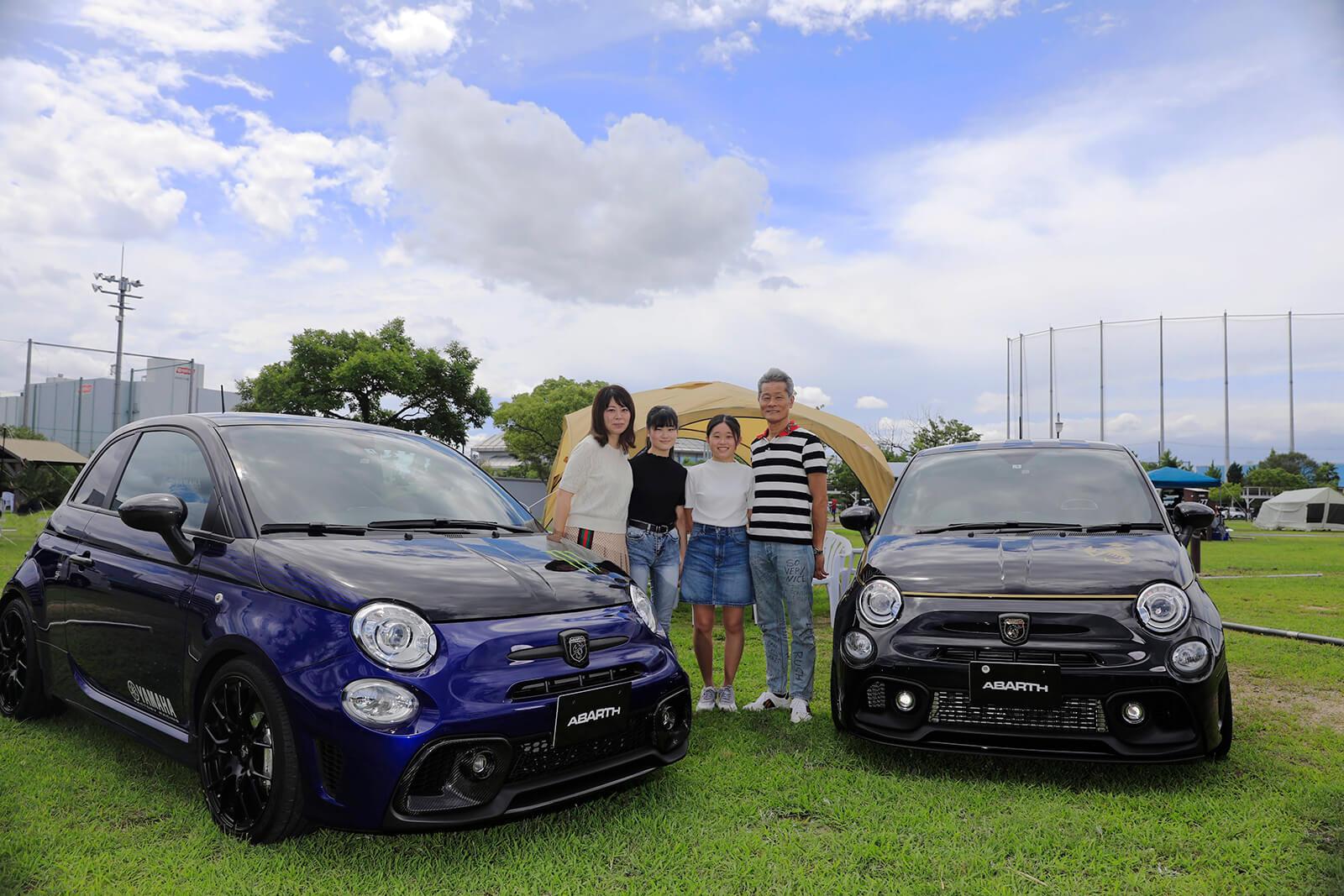 ご主人と奥さまそれぞれがMyアバルトを満喫 アバルトライフFile.38 濱岡さんファミリーと595 Scorpioneoro & 595 Monster Energy Yamaha